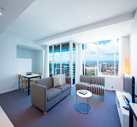 Gold Coast Private Apartments at H Residences building Surfers Paradise, One Bedroom Apartment Level 14