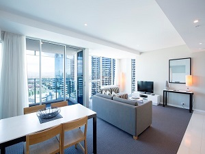Gold Coast Private Apartments Level 19 Living Room
